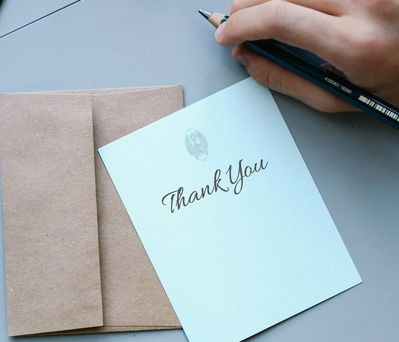 How a coloured envelope can make your thank you letter stand out